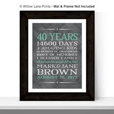40th anniversary gifts for parents 40th anniversary gift for parents 40 year anniversary 40th