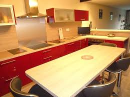 cuisine cerise plan de travail cuisine cuisine acquipace racnovation