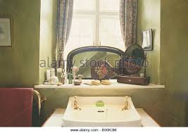 Olive Green Bathroom Interiors Bathroom Eighties Mirror Stock Photos U0026 Interiors