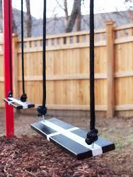 Swing Arbor Plans How To Build A Wooden Kids U0027 Swing Set Hgtv