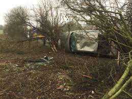 car crashes into tree on a303 close to popham airfield daily echo