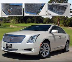 cadillac xts replacement cadillac xts chrome mesh grille by e g classics 2013 2014