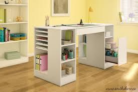 Craft Desk Diy And Craft Desk With Storage Creative Desk Decoration
