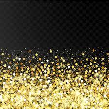 glitter backdrop falling golden particles on a black background scattered golden