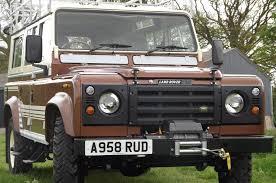 vintage land rover defender 110 1983 land rover defender v8 county station wagon up for auction
