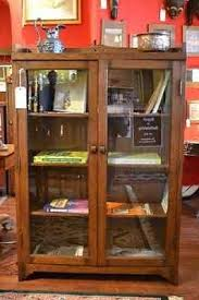 mission oak bookcase with two doors china cabinet arts and crafts