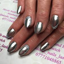 silver acrylic nail designs images nail art designs