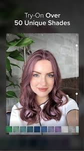 see yourself with different color hair hair color on the app store