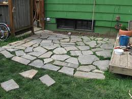 Concrete Ideas For Backyard by Exterior Cozy Flagstone Pavers For Outdoor Flooring Design Ideas