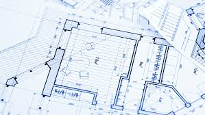 architectural plan pliers and architectural plan of the modern house stock footage