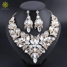 indian bridal necklace sets images Luxury flower indian bridal jewelry sets wedding costume gold jpg