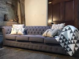 Linen Chesterfield Sofa Stunning 4 Seater Linen Chesterfield Sofa Dove Grey In