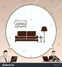 home interior design icon sofa icon stock vector 566484661