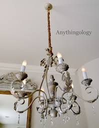 Chandelier Cover Diy Rope Chandelier Cord Cover She S Crafty Pinterest