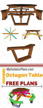 Free Woodworking Plans For Picnic Table by Hexagonal Picnic Table Plan From Popular Mechanics Free
