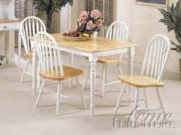 stylish white wooden dining table and chairs like the interest of