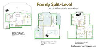 bi level floor plans with attached garage small bi level house plans home if walls could family split