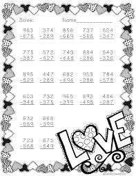 Subtraction Free Worksheets Free 3 Digit Subtraction Printable Free Math Worksheets