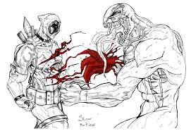 deadpool venom art suspension99 deviantart