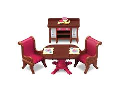 Dollhouse Dining Room Furniture by Amazon Com Fisher Price Loving Family Dining Room Toys U0026 Games