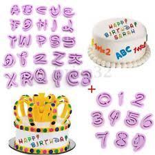 26pcs alphabet letter cookie biscuit fondant icing cutter set cake