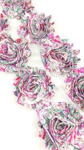red green christmas chiffon lace flower lace fabric flowers