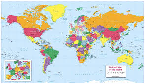 world politic map personalised children s world political map 22 99