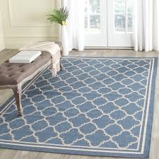 Safavieh Indoor Outdoor Rugs Safavieh Blue Beige Indoor Outdoor Rug 8 11 X 12