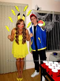 cool costume ideas cool costume for couples pikachu and ash
