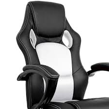 oz crazy mall pu leather racing office chair sport executive