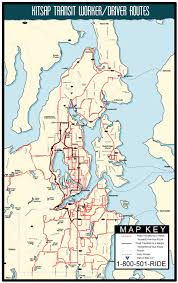Seattle Bus Routes Map by Worker Driver Buses Kitsap Transit
