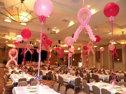 breast cancer event decor such an inspiring cause and these