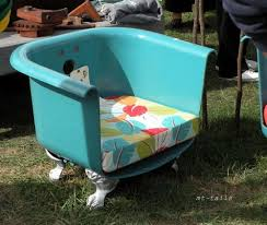 claw foot tub turned club chair now that39s some funky junk mt