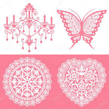 lace ornaments set stock vector lalan33 3975117