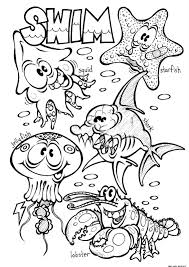 animals in the ocean coloring pages online free