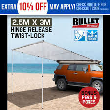 Awning For 4wd New Bullet 4wd Roof Rack Awning 4x4 Car Top 2 5mx3m Tent Pull Out