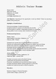 Training Resume Examples by Athletic Trainer Cover Letter Sample Sports Cover Letter Resume