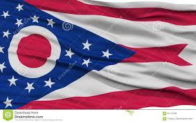 Christopher Columbus Flag Nahaufnahme Ohio Flagge Usa Staat Stock Abbildung Illustration