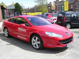 peugeot red used peugeot 407 coupe 2 0 hdi bellagio 2dr in crewe cheshire