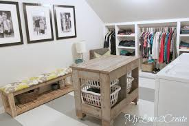 Laundry Room Storage Cart by Closet Laundry Room Makeover My Love 2 Create