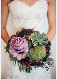 flowering purple kale wedding bouquets centerpieces mon cheri