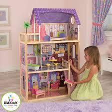 decor exciting kayla kidkraft dollhouse with cozy pergo flooring