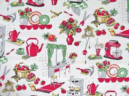Kitchen Curtain Material by 14 Best Vintage Fabric Images On Pinterest Vintage Fabrics