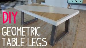 Diy Desk Legs Diy Modern Geometric Table Legs