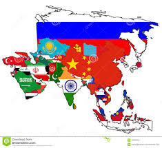 Asia Map With Country Names by World Map Colored In Countries Flags U0026 Names Royalty Free Stock