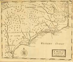 North Carolina Map North Carolina Antique Map Circa 1737