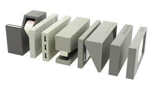 accessoire de bureau design set de bureau lexon 7 pièces gris achat accessoire bureau design