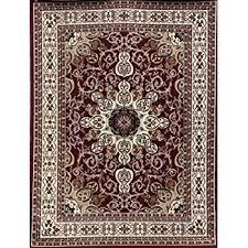 Burgundy Rug Amazon Com New City Burgundy Traditional Isfahan Wool Persian