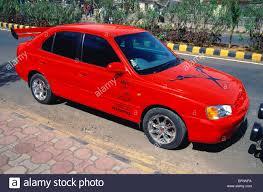 hyundai india accent mmn 62549 hyundai accent car hyundai india stock photo