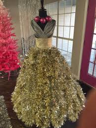 use an dress form to create stunning decor dress